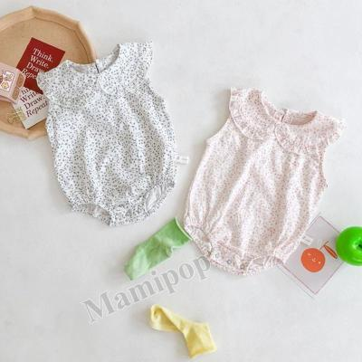 Baby Children's One Piece Clothes Baby Girl Small Floral Lapel Pure Romper