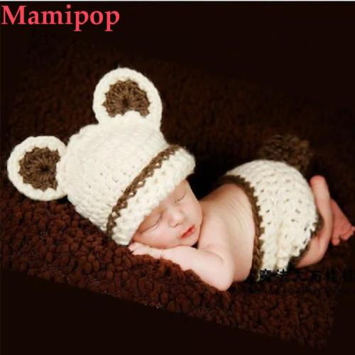 2pcs Cartoon Bear Animal Cute Newborn Photography Props