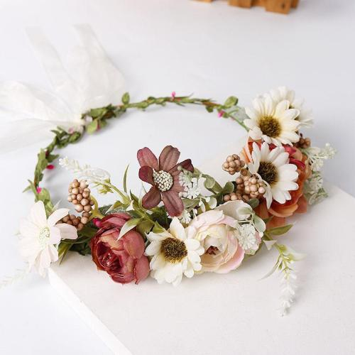 Maternity photography chrysanthemum headwear seaside wreath