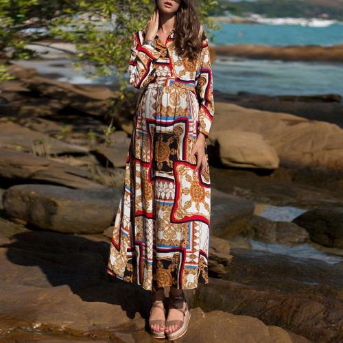 Fashion Bohemian Print Holiday Dress