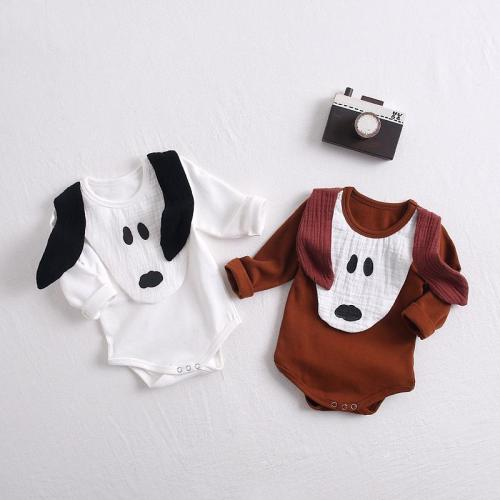 Autumn 2020 New Baby Puppies bag fart Romper baby cotton long sleeve one-piece creeper
