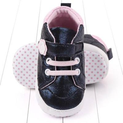 Toddler Girls Boys Kids Hook Casual Toddler First Walk Leather Shoes