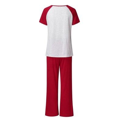Maternity Clothes Short Sleeve Nursing Baby T-shirt Tops+Pants Pajamas