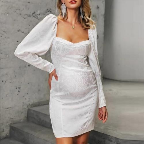 Maternity Fashion Square Collar Long Sleeve Dress