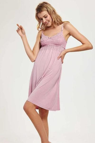 Maternity Dress Nursing Nightgown Breastfeeding Sleepwear