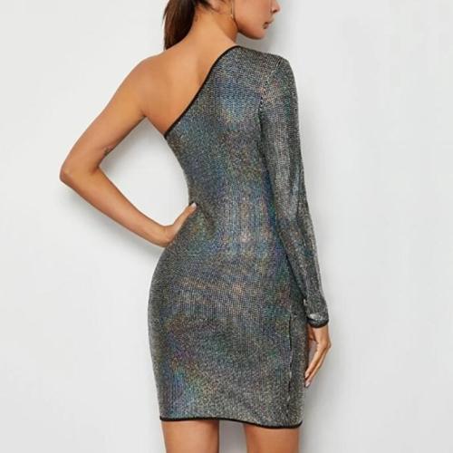 Maternity Fashion Off Shoulder Single Sleeve Hip Dress