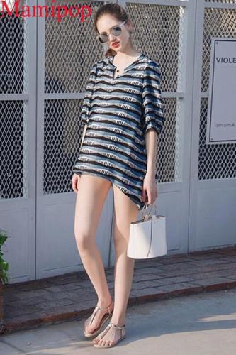 Summer Pregnant Half Shirts Korean Chiffon V-neck Maternity Clothes