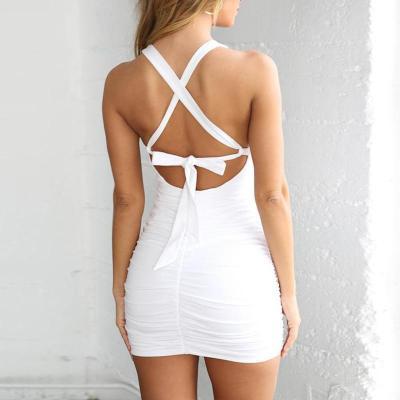 Maternity Plain Scoop Backless Bodycon Dress