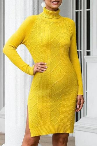 Casual loose long sleeve maternity knit  sweater dress