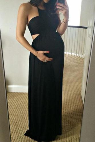 Maternity Off Shoulder Full Length Dress