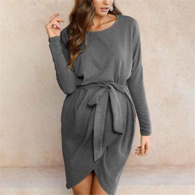 Maternity Irregular Waist Strap Dress