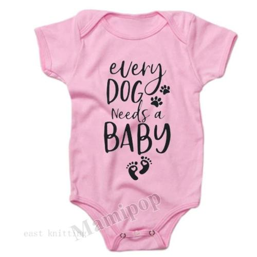 All dogs need baby English printed Romper