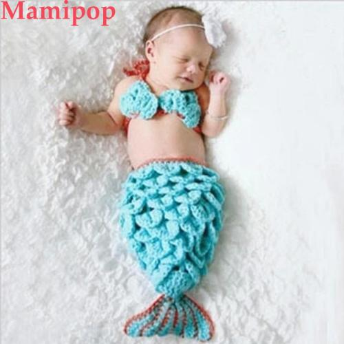 Soft Mermaid Series Of Hand crochet Wool 0~3 Months Babies