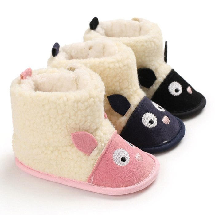Fashion Baby Shoes winter Comfortable Mixed Colors Fashion Kid First Walkers Shoes Colorblocked thick snow boot