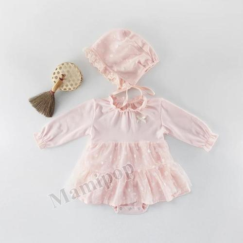 Baby girl's triangle Romper