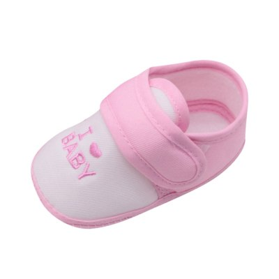 Newborn Infant Baby Girls Boys Printing Cartoon Prewalker Soft Sole Shoes I Love Baby Letter Print First Walker#35