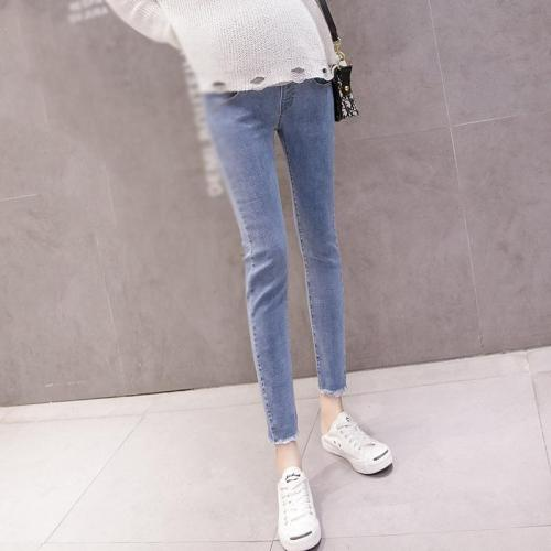 Maternity Fashion Stomach Lift Pockets Jeans