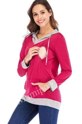 Maternity wear autumn and winter  zipper weight loss breastfeeding pregnant women sweater