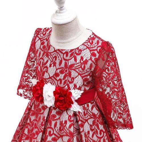 Long Sleeve Lace Cutout Dress