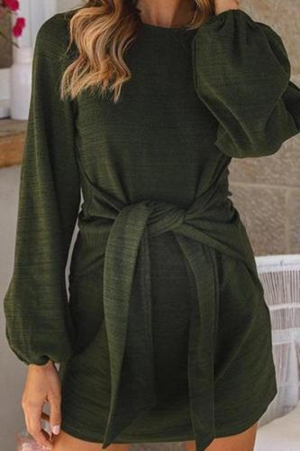 Maternity Casual Straps Long Sleeve Dress