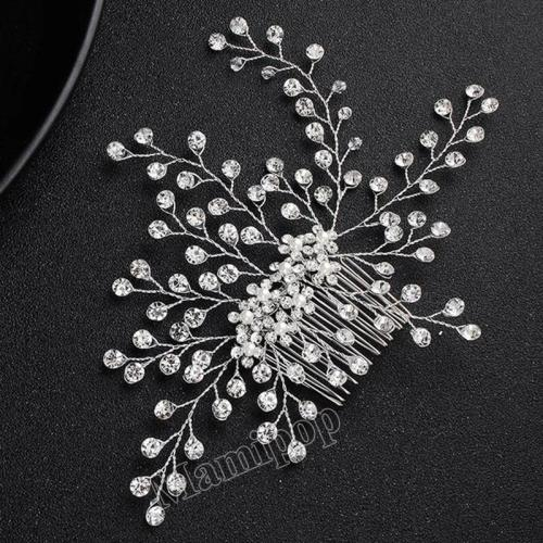 Rhinestone Handmade Leaf Hair Combs Bridal Wedding Hair Accessories