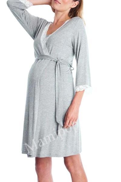 Maternity Pajamas Night-Rob Dress Robe Femme Enceinte