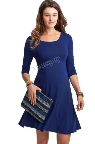 The Sexy Soild Color Long Sleeve Square Round Dress