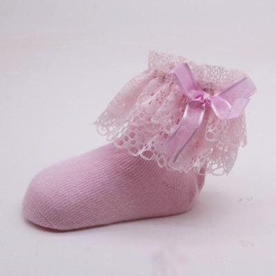 Baby Kids Girls Comfortable Lace Cute Cotton Sock Slippers Ankle Socks