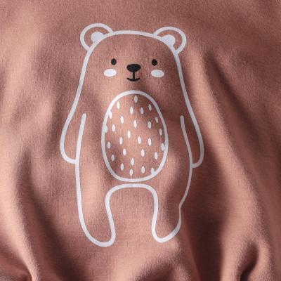 Long Sleeve Hooded Bodysuit Printed  Bears in Autumn and Winter 2020