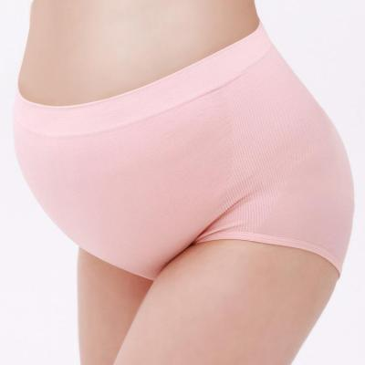 Seamless pregnant women's  belly support underwear