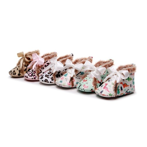 Fashion Baby Shoes winter Infant Newborn Girls Boys Cartoon Shoes First Walkers