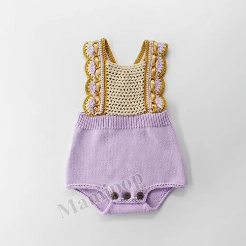 Baby Hook Back Strap Knitting Wool One-piece Suit
