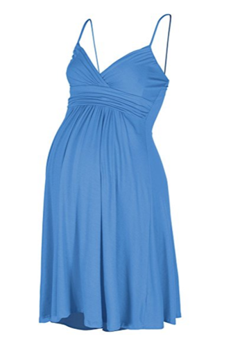 Maternity Ruched Short Cami Dress
