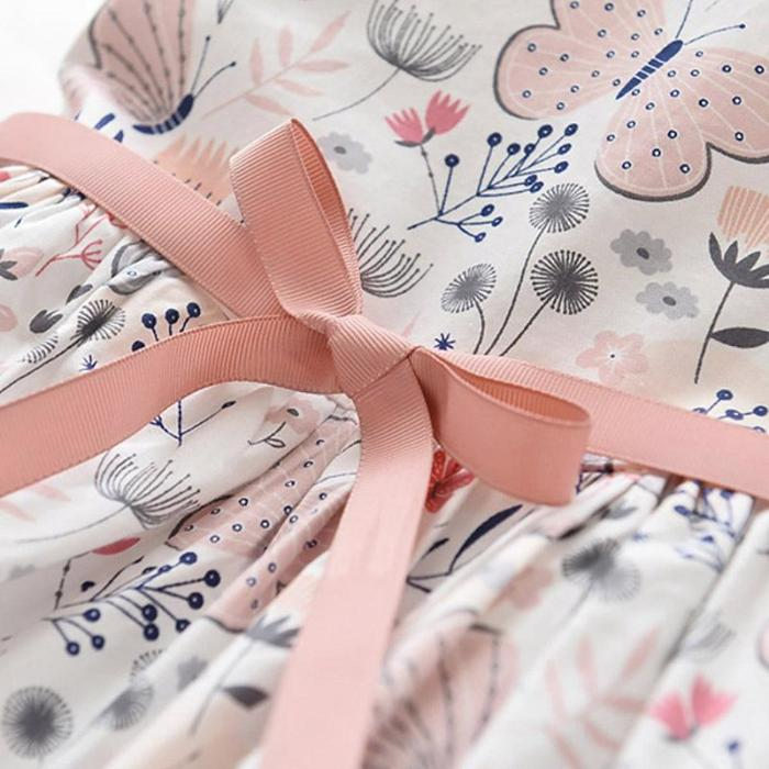 2020 women's dress summer new sleeveless print princess dress