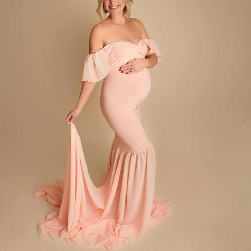 Maternity Casual Pure Color Dress