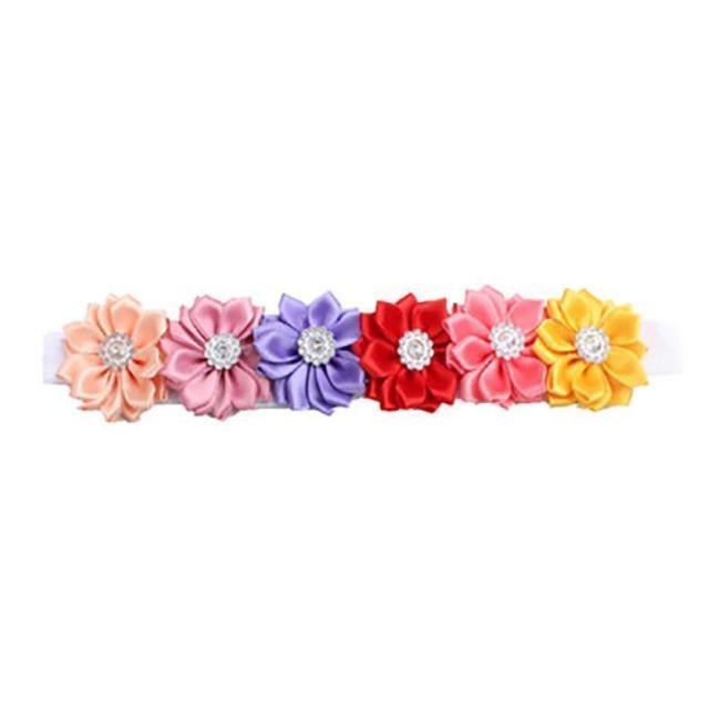 Coloured Satin Flower Baby Headwear