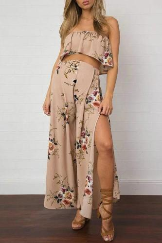 Maternity Wrapped Wide-Leg Jumpsuit