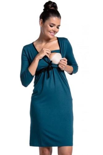 V-neck Pregnant Breastfeeding Nightgown Women Sleepwear