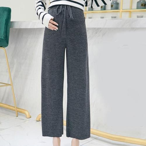 Maternity casual solid colored knit pants