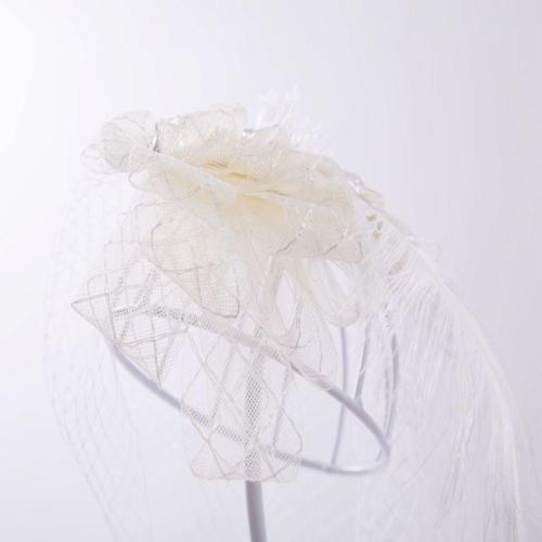 Bridal net headdress banquet horse racing church headdress