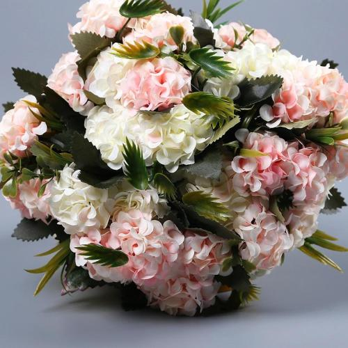 Silk Artificial Hydrangea Flowers  Flower Bonquet WeddingDay
