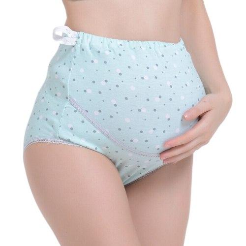 Women 's High-waist Panties briefs maternal Dot Seamless Soft Care Underwear