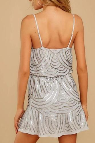 Maternity Print Slim Sling Dress