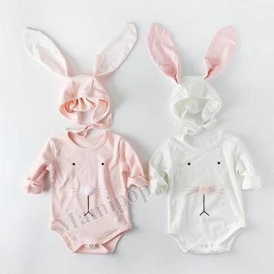 2020 Spring Baby Ball Rabbit Ear Cap Creeper