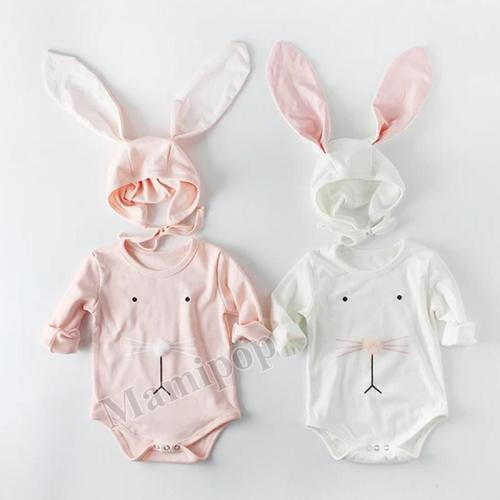2020 Spring Baby Ball Rabbit Ear Cap Creeper
