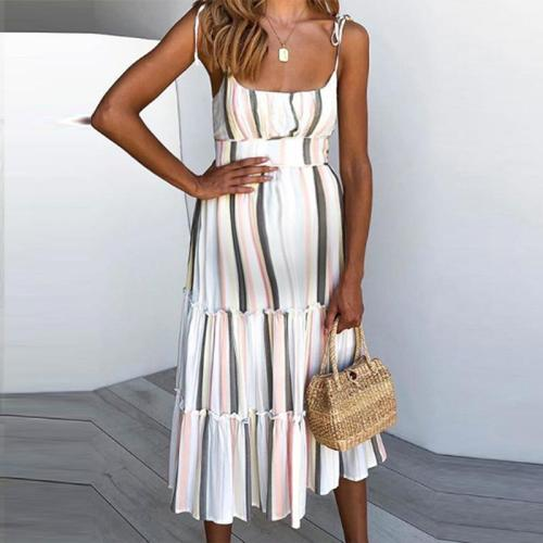Maternity Sexy Sling Stitching Color Dress