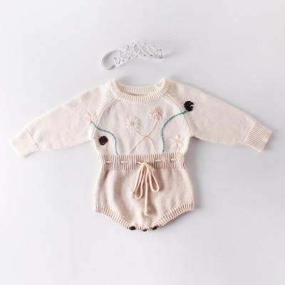 Autumn new baby hand knitted jacquard knitted sweater