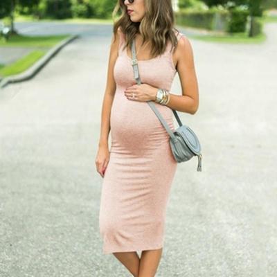 Maternity Round Neck Sheath Dress