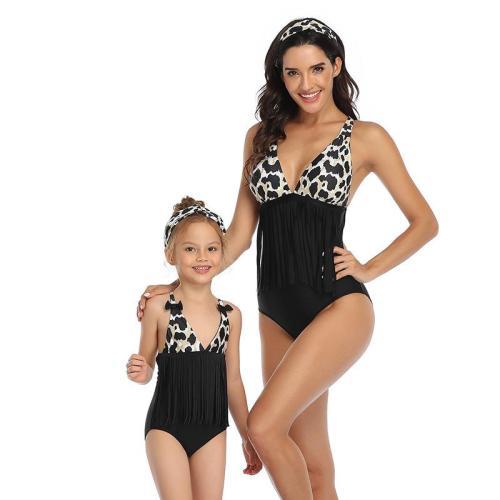 2020 New Parent-Child Swimsuit Tassel Fashion Swimsuit