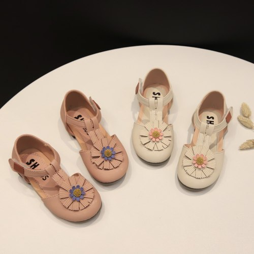 Hot sale Casual kids shoes summer fashion Children Baby Girls Cute Flower Princess Sandals